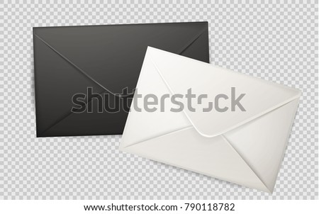 Vector realistic 3 d black white envelope stock vector 790118782 vector realistic 3d black white envelope empty post letter cover business post mail office stopboris Image collections