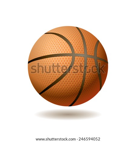 vector realistic illustration of the basketball ball - stock vector