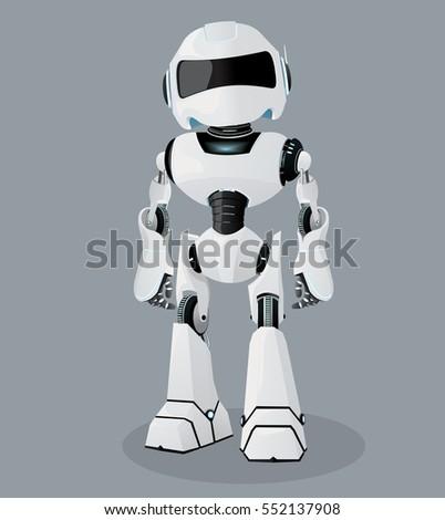 Vector Realistic Illustration White Robot Vector Stock ...  Vector Realisti...