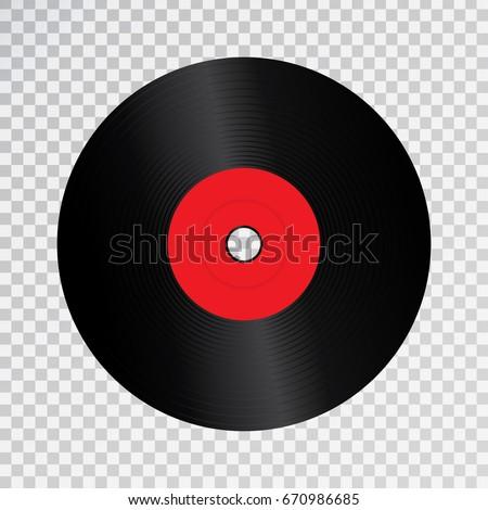 Vector Realistic Isolated Retro Vinyl Record Stock Vector