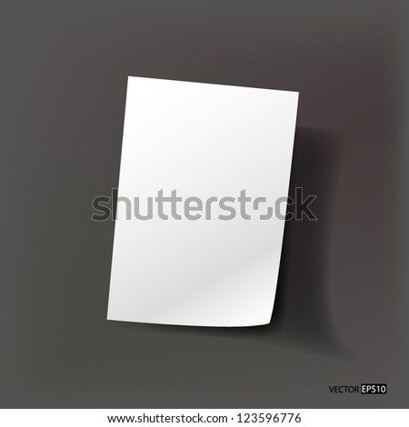 Vector realistic paper sheet - stock vector