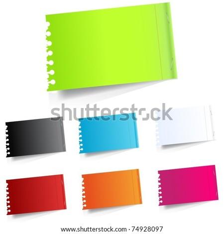 Vector realistic paper sheet - stock vector