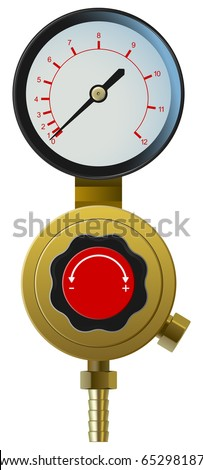 vector realistic pressure controller on white background