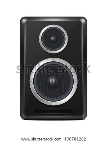 Vector Realistic Speaker - stock vector