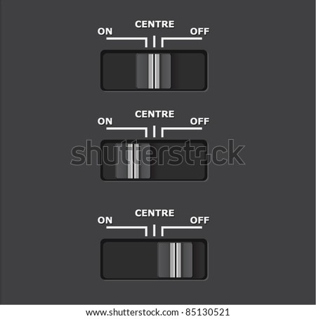 Vector realistic switch on off - stock vector