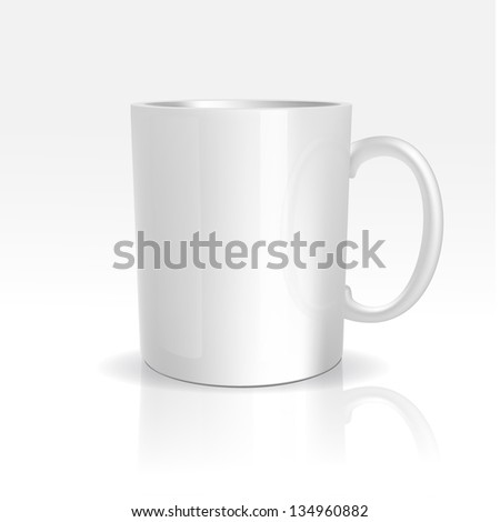 Vector Realistic White Cup