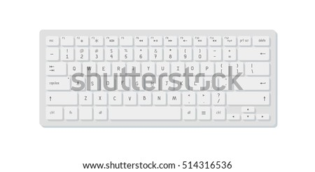 Vector realistic white keyboard and mouse on blue background. Isolated on white.