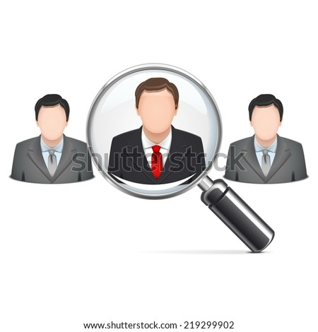 Vector Recruitment Concept - stock vector