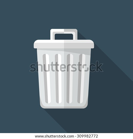 Vector recycle bin icon - stock vector