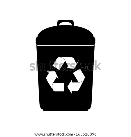 vector recycle garbage can icon - stock vector