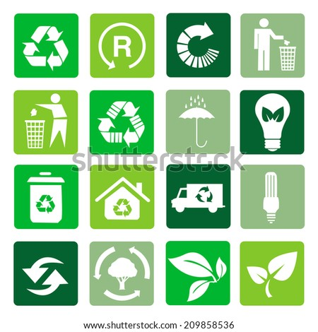 Vector recycle signs  - stock vector