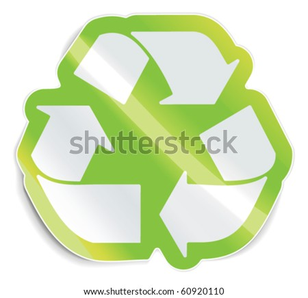 Vector recycle sticker - stock vector