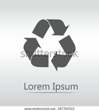 vector recycle symbol. recycle vector icon. - stock vector