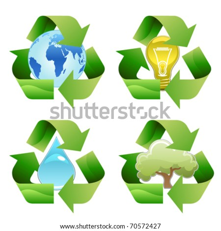 vector recycle symbols - stock vector