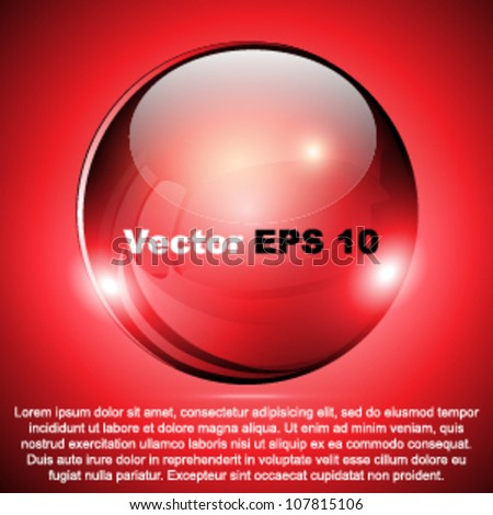 Vector red advertising element - brochure