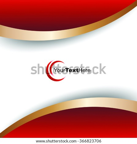 Vector red and gold business background