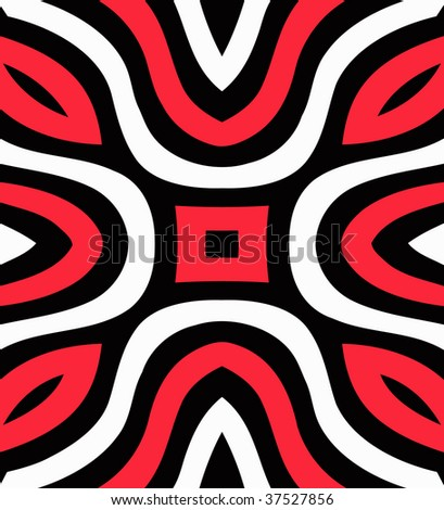 vector - red and white flowing lines - stock vector