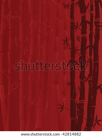 vector red bamboo background