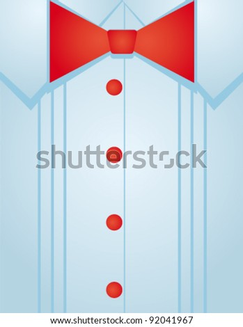 Vector red bow-tie - stock vector