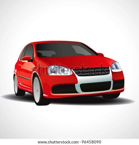 Vector red car - stock vector