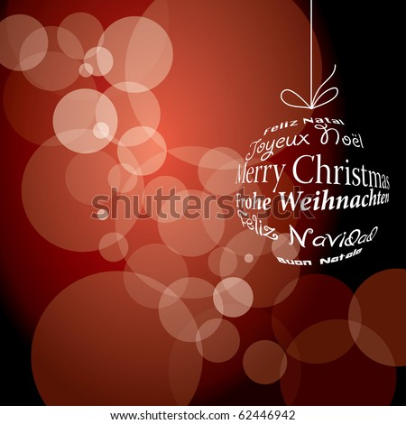 vector red christmas background, eps 10 file - stock vector