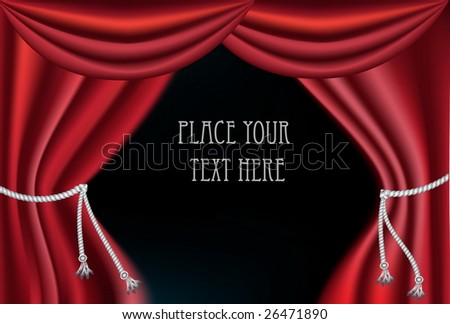 vector red curtain