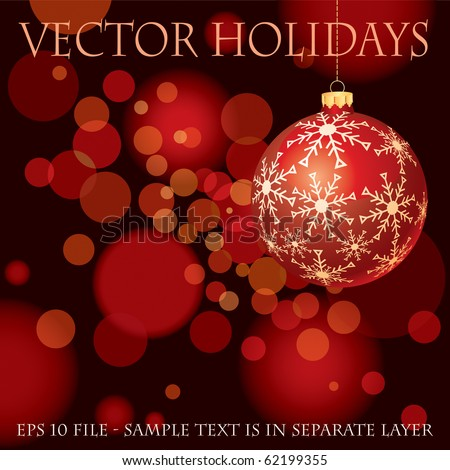 vector red holidays background, eps 10 file, fully editable - stock vector