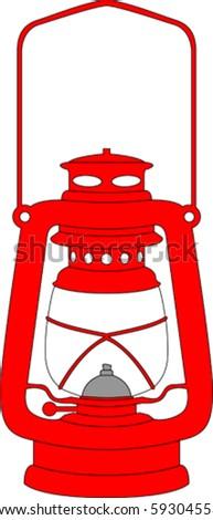 Vector red lantern - stock vector