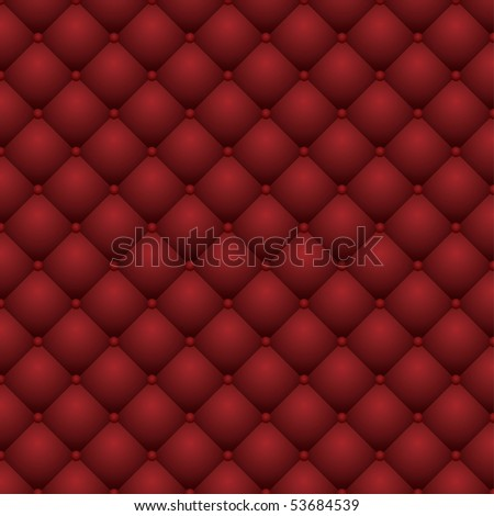 vector red leather upholstery - stock vector