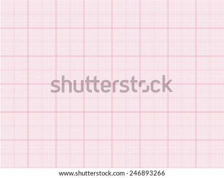 Vector red plotting graph paper background - stock vector