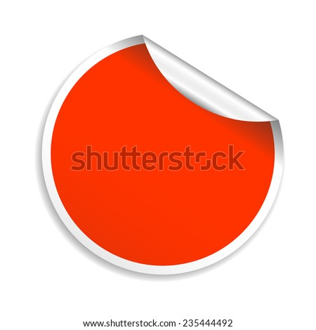 Vector red round sticker. Illustrator Eps 10 - stock vector