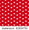 vector red seamless pattern with flower heart. Valentines day background - stock vector