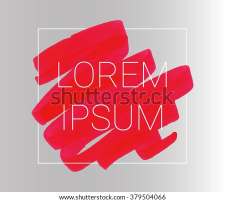 Vector red stripes drawn with markers. Elements for design and background - stock vector