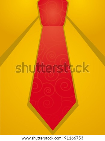 Vector  red tie illustration - stock vector