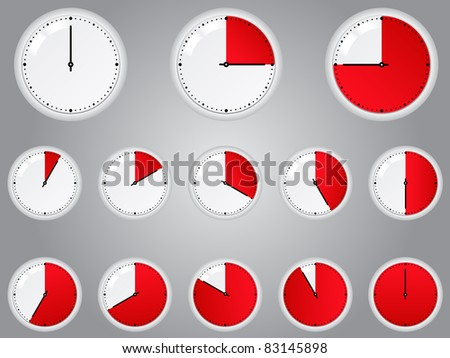 Vector Red Timers - stock vector