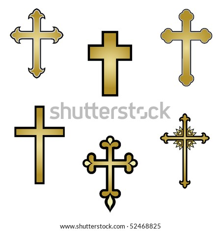 vector religious cross design collection