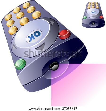 Vector remote control. - stock vector