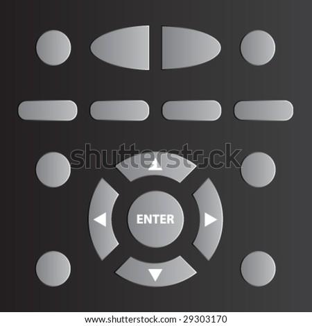 vector remote tv control - stock vector