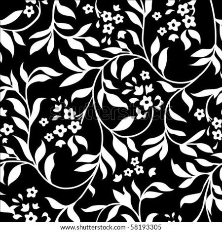 Vector repeating ivy pattern. Swatch is included for easily creating large fills. - stock vector