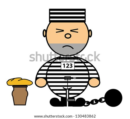 Vector representing Kiki dress convict - stock vector