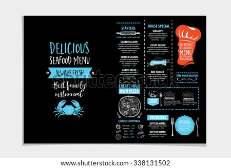 Restaurant Brochure Stock Images RoyaltyFree Images  Vectors