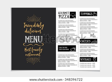 Cafe Menu Restaurant Brochure Food Design Stock Vector 282963134