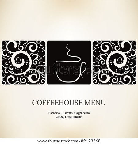 Vector. Restaurant or coffee house menu design - stock vector