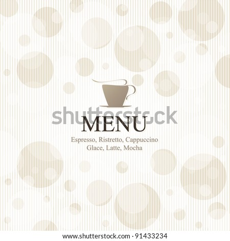 Vector. Restaurant or coffee house menu design, with seamless background - stock vector