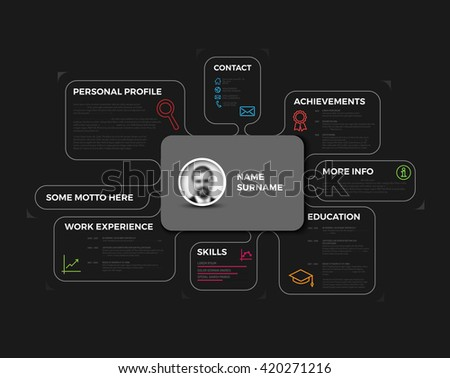 Vector resume. original minimalist cv design template  - stock vector