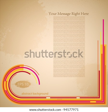 Vector retro abstract background with place for your text - stock vector