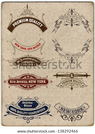 Vector. Retro banners - stock vector