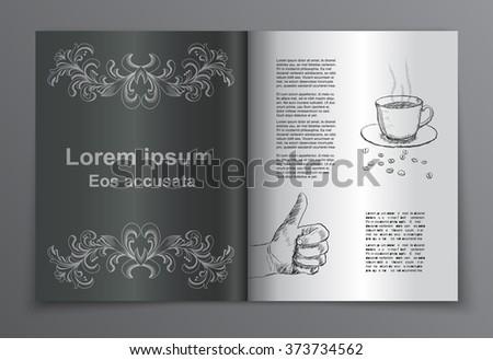 Vector retro brochure book  cover - stock vector