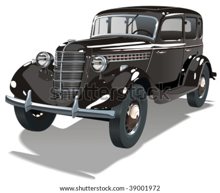 Vector retro car. More vector cars see in my portfolio - stock vector