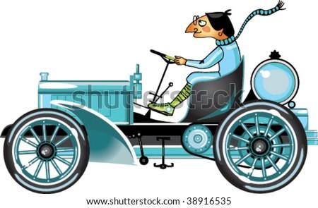 Vector retro cartoon. - stock vector